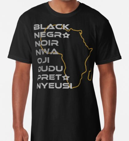 BLACK in Every Language Long T-Shirt