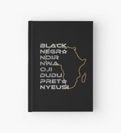 BLACK in Every Language Hardcover Journal