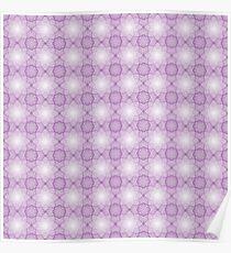 Das abstrakte nahtlose violette Muster mit Polygonen. Eine Zelluläre Spitze. Poster