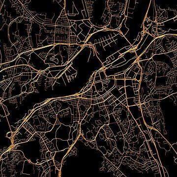 Gothenburg map, Sweden by AnnaGo