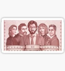 La casa de papel - sticker, cards and poster Sticker