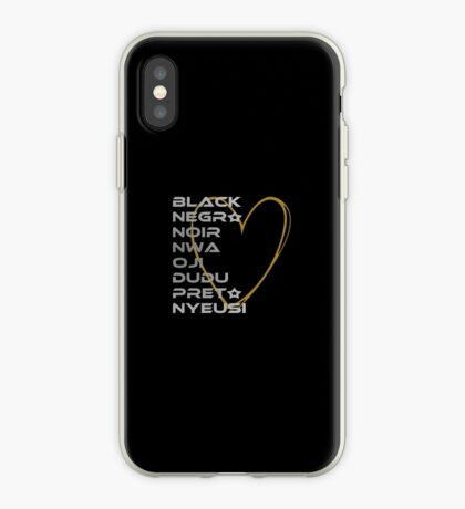 BLACK in Every Language 2.0 iPhone Case