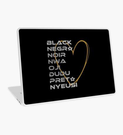 BLACK in Every Language 2.0 Laptop Skin
