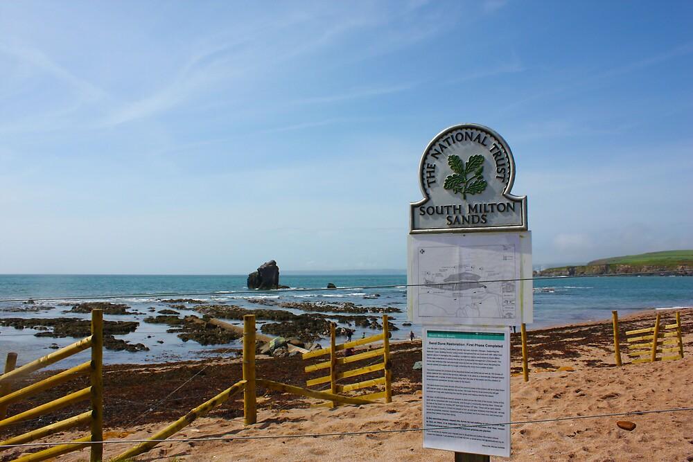 Thurlestone Beach South Devon by lhyland
