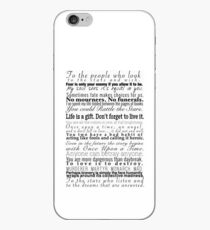 Quotes - Collection of Young Adult Book Quotes iPhone Case