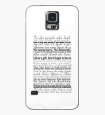 Zitate - Sammlung von Young Adult Book Quotes Hülle & Klebefolie für Samsung Galaxy