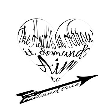 The Heart is an Arrow - Six of Crows Inspired Typography by caitjacobs