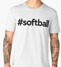 Softball Hashtag ~ Sports Fitness Player Men's Premium T-Shirt