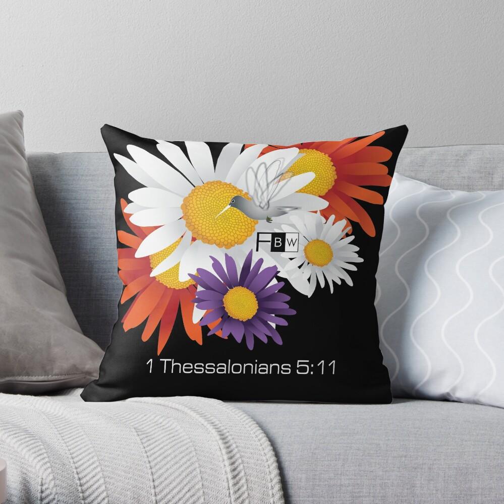 Encourage Floral Throw Pillow