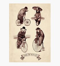 Bears on Bicycles Photographic Print