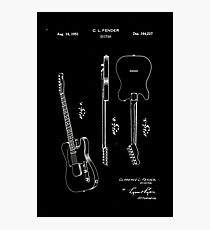 Fender Telecaster Guitar Patent 1951 Photographic Print