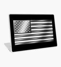 American Flag 2 - USA - Metallic - Steel Laptop Skin