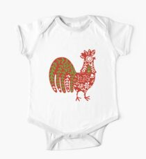 Rooster  animal ethno naive animal art  Kids Clothes