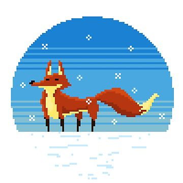 Fox in the Snow by Pixel-Bones