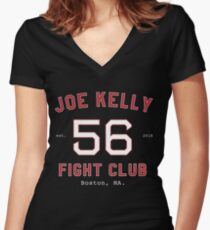 Joe Kelly Fight Club  Women's Fitted V-Neck T-Shirt