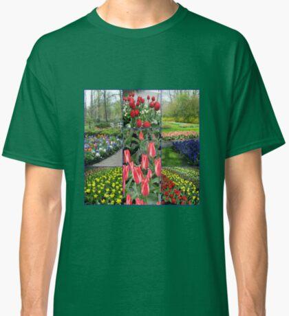 Keukenhof-Collage mit Pinocchio-Tulpen Classic T-Shirt