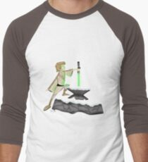 The Saber In The Stone Men's Baseball ¾ T-Shirt