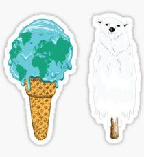 Global Warming Ice Cream Sticker