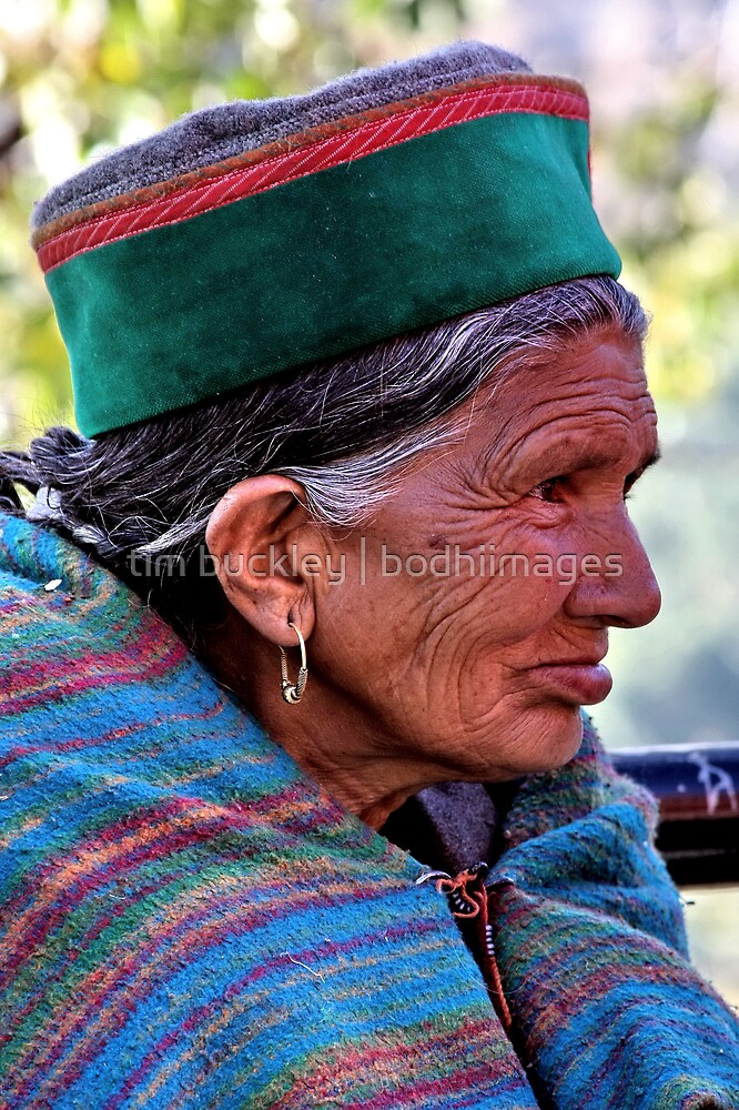 tribal woman. tso pema, northern india by tim buckley | bodhiimages