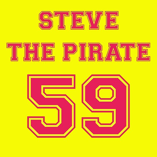 steve the pirate posters by mark5ky redbubble