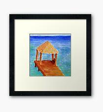 Dock On The Ocean Framed Print