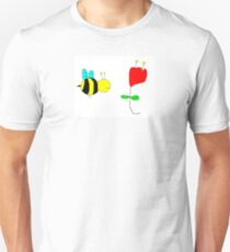 Bumble Bee in The Rose Unisex T-Shirt