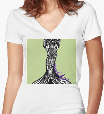 Woman Within3 Women's Fitted V-Neck T-Shirt