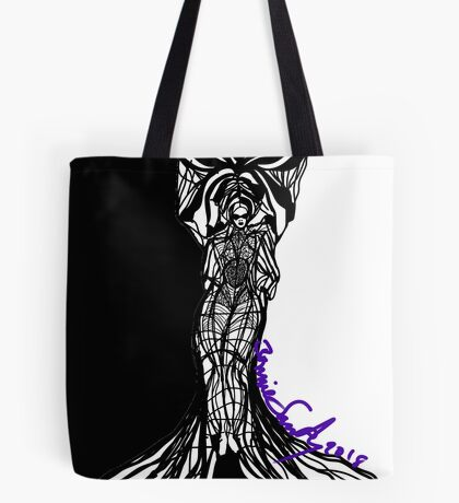 Woman Within Tote Bag