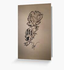 Tattoo gun design drawing Greeting Card