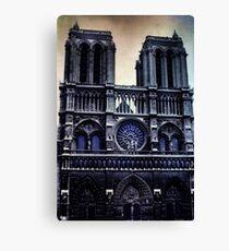 Weinlese Notre Dame Cathedral Dark Leinwanddruck