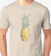 Cute Watercolor and Ink Pineapple T-Shirt