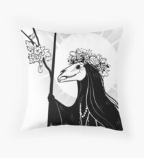 The Dark Queen Throw Pillow