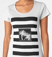 White & Black Palm Trees Women's Premium T-Shirt
