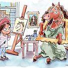Spunky the Pony as the Mona Lisa (La Gioconda) by April Tonin