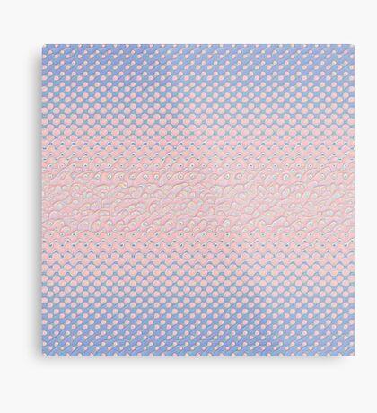 #DeepDream Color Circles Gradient Rose Quartz and Serenity 5x5K v1449298379 Metal Print