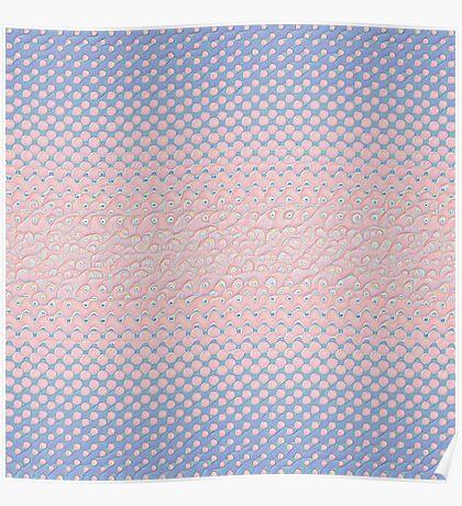 #DeepDream Color Circles Gradient Rose Quartz and Serenity 5x5K v1449298379 Poster