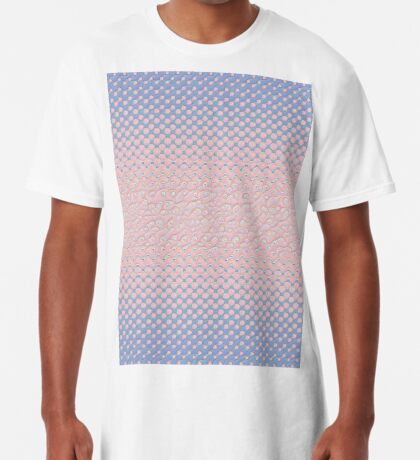 #DeepDream Color Circles Gradient Rose Quartz and Serenity 5x5K v1449298379 Long T-Shirt
