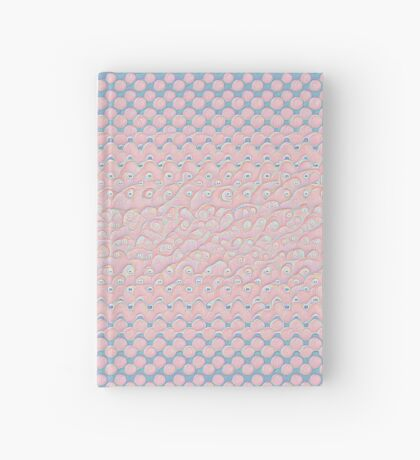 #DeepDream Color Circles Gradient Rose Quartz and Serenity 5x5K v1449298379 Hardcover Journal