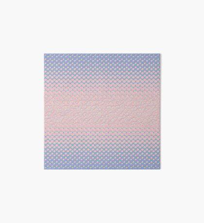 #DeepDream Color Circles Gradient Rose Quartz and Serenity 5x5K v1449298379 Art Board Print