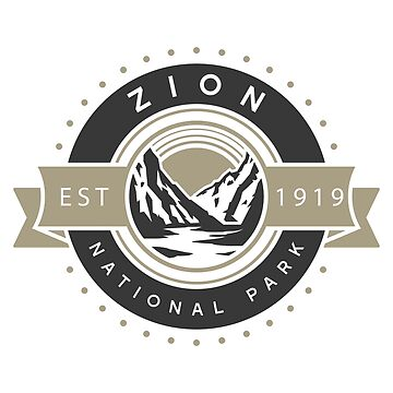 Zion National Park - Road Trip Logo Design by nationalparks