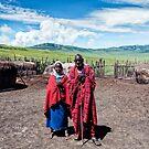 Maasai Father and Daughter - Ngorongoro by Amyn Nasser