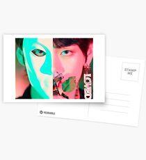 Taehyung Singularity half face Postcards