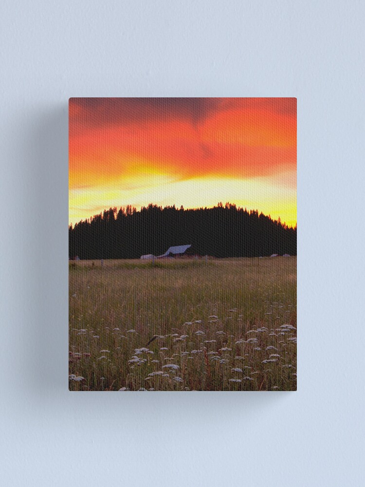 Alternate view of Country Twighlight Canvas Print