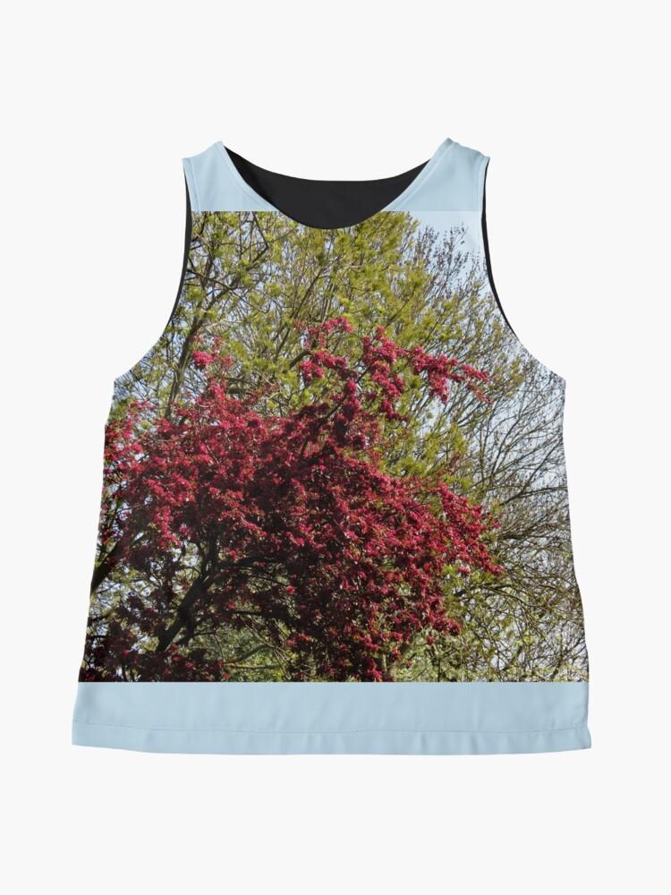 Alternative Ansicht von Baum mit roten Blüten Ärmelloses Top