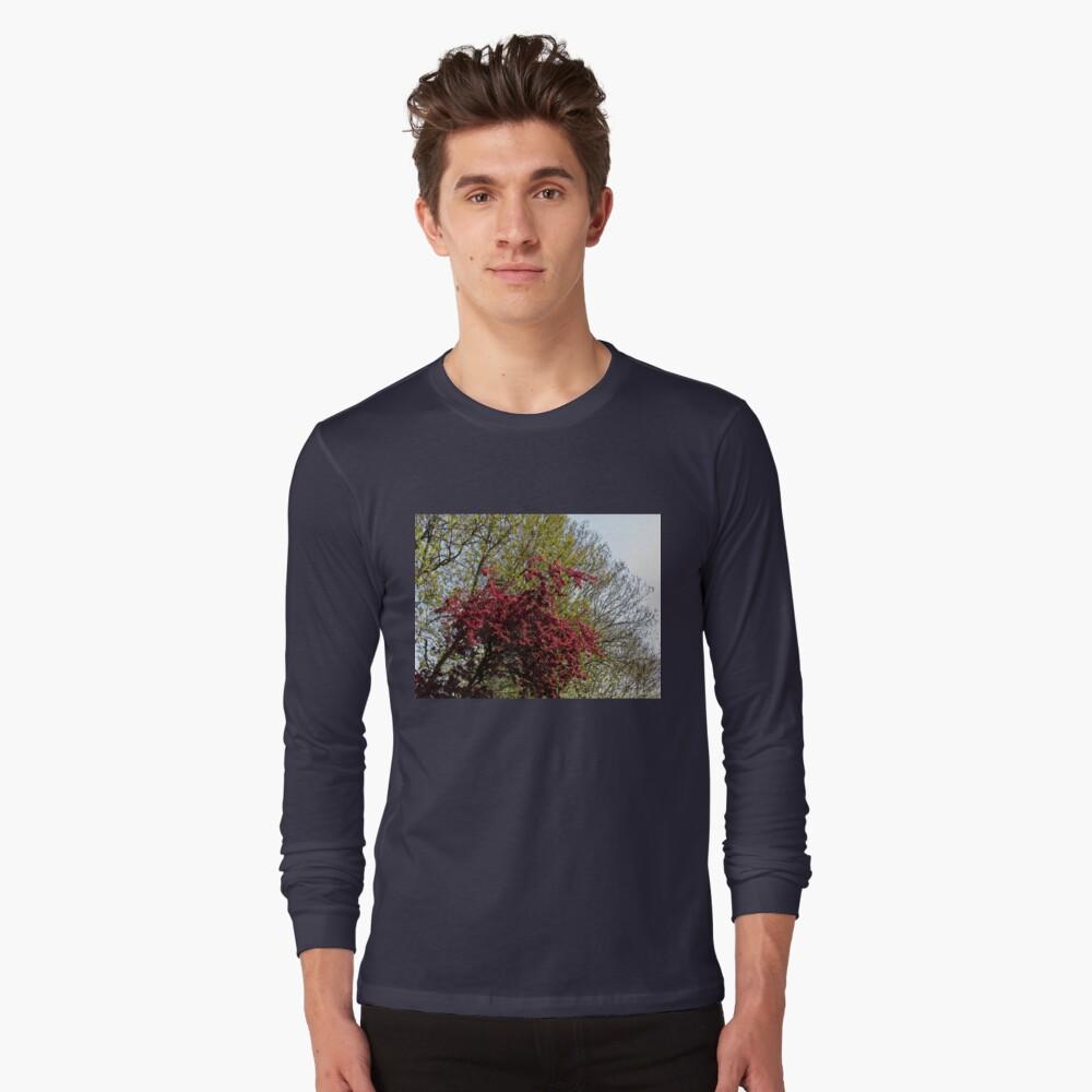 Baum mit roten Blüten Langarmshirt