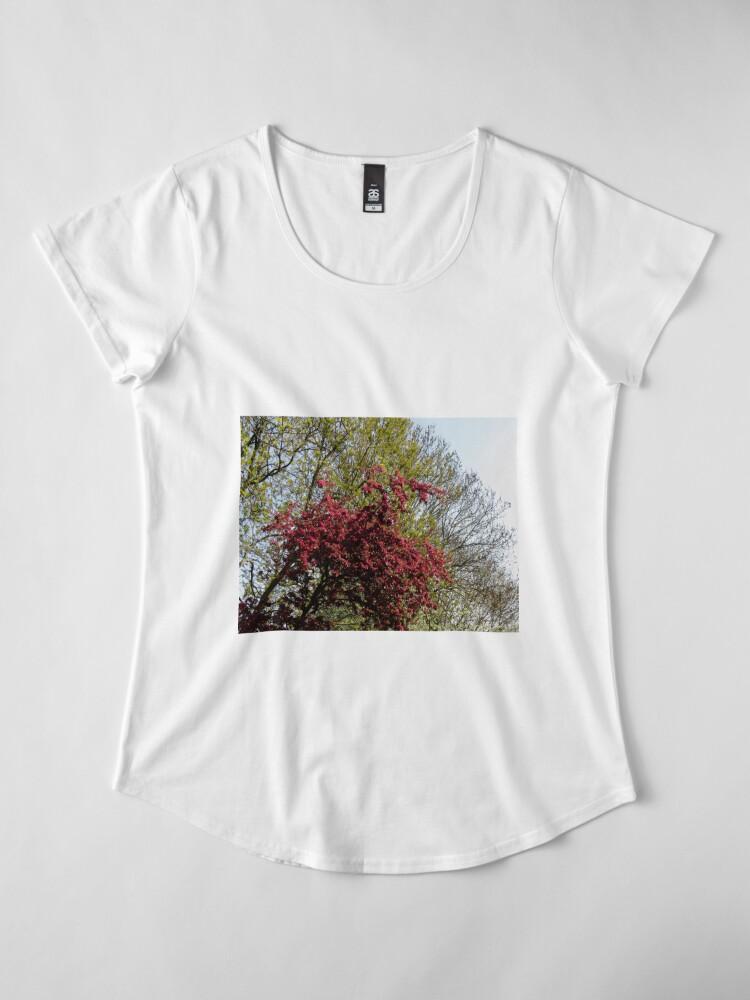 Alternative Ansicht von Baum mit roten Blüten Premium Rundhals-Shirt
