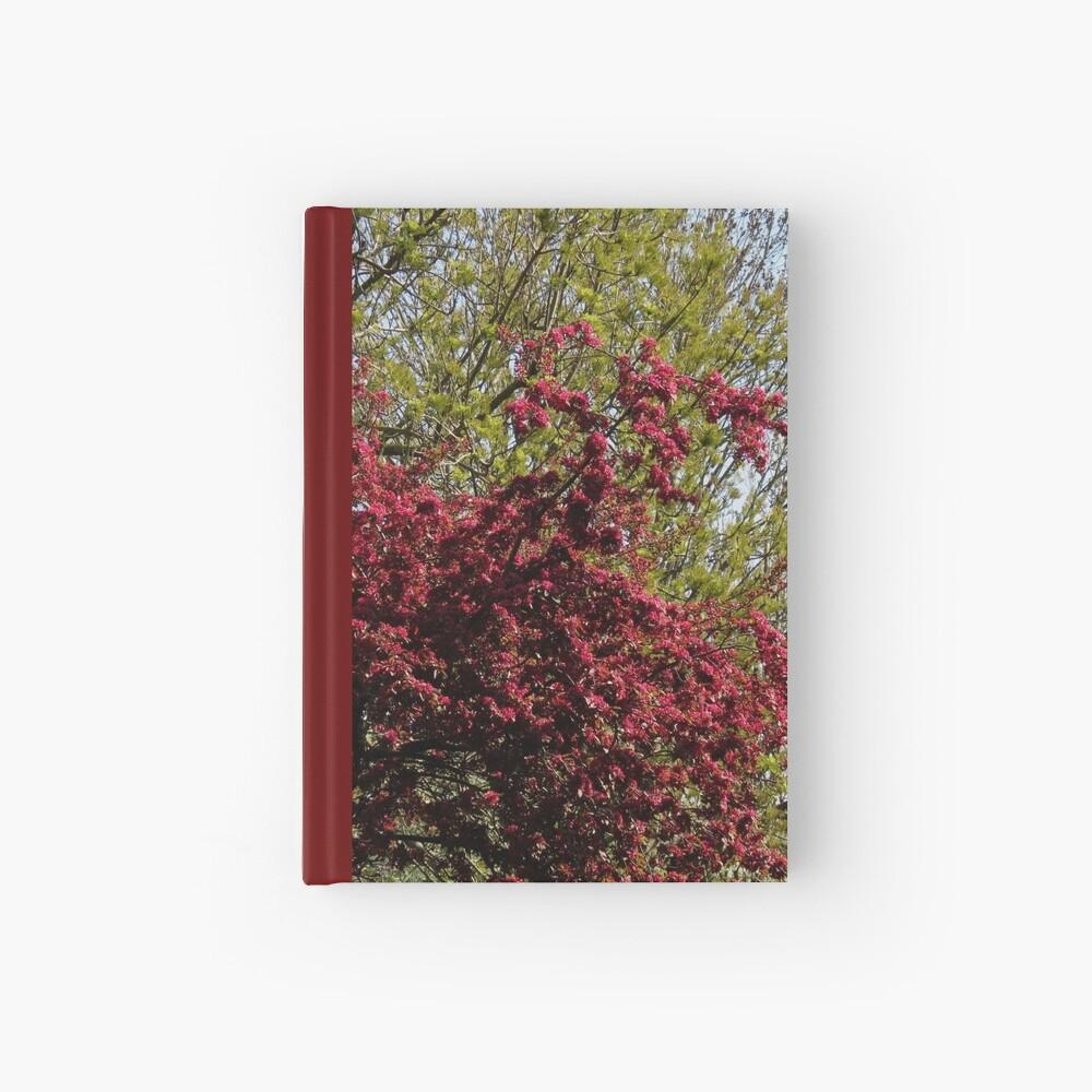 Baum mit roten Blüten Notizbuch