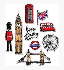 London city stickers Photographic Print