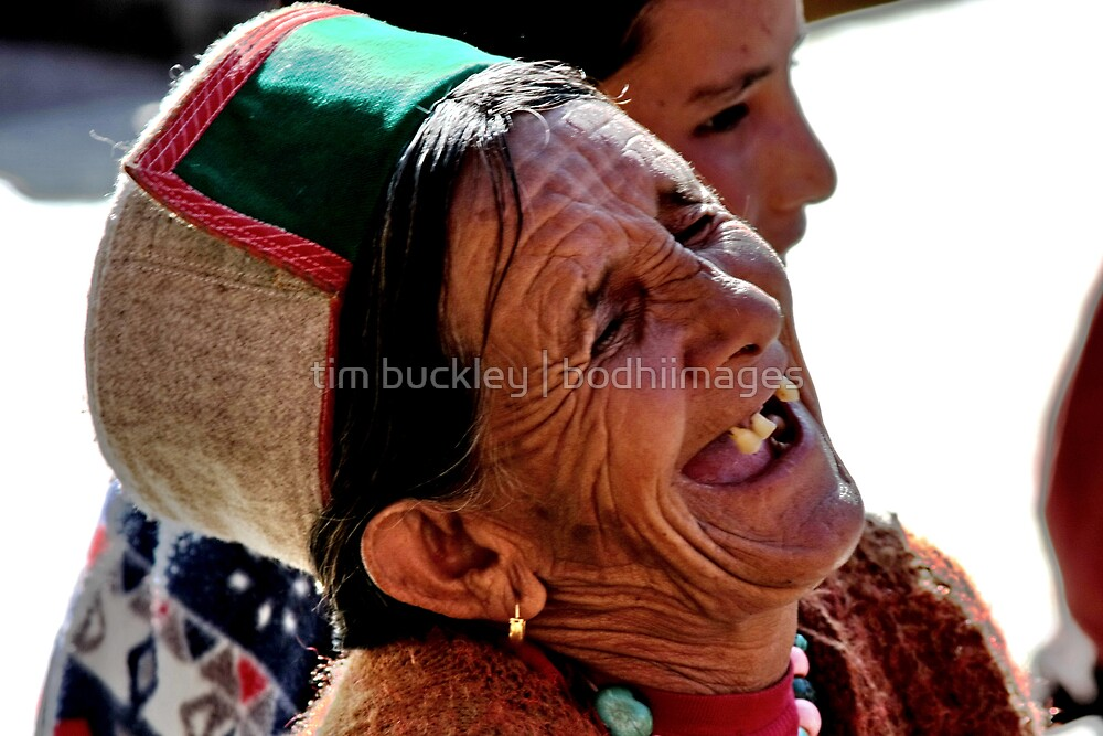mountain woman. northern india by tim buckley | bodhiimages