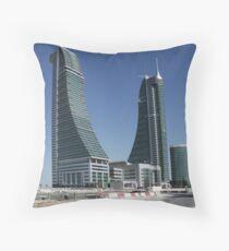 Bahrain Financial Harbour Throw Pillow